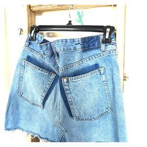 H&M denim high-waisted blue jean skirt